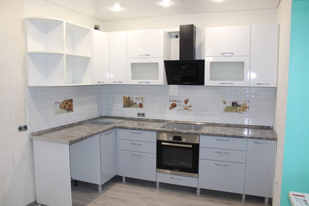Kitchen MDF PVC corner gloss 01