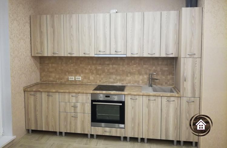 Kukhnya pryamaya 3,1m s fasadami MDF i penalom (1)