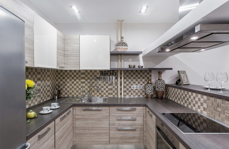 p-shaped kitchens to order in Omsk 12