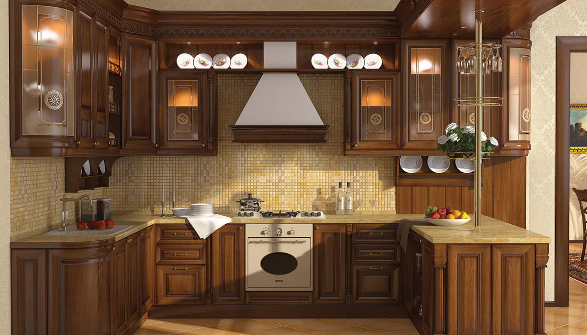 p-shaped kitchens to order in Omsk 18